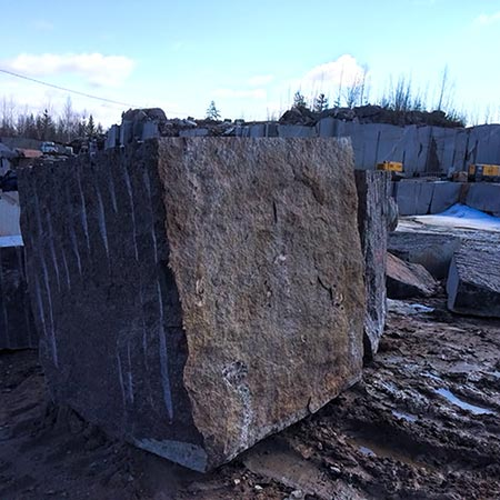 gabbro blocks black granite russia karelia